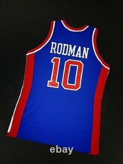 100% Authentic Dennis Rodman Mitchell Ness Limited Signed Pistons Pro Cut Jersey
