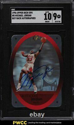 1996 SPx Autographs Holo Die-Cut Michael Jordan AUTO SGC 9