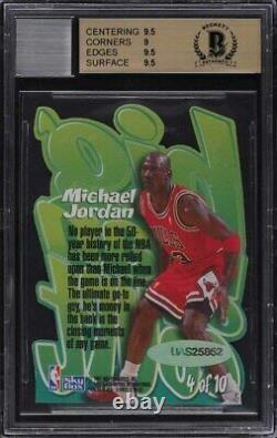 1996 Skybox Z-Force Big Men On Court Die-Cut Michael Jordan AUTO #4 BGS 9.5 GEM