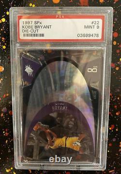 1997 SPx Kobe Bryant Die-Cut #22 PSA 9 MINT Los Angeles Lakers. RARE! Rookie