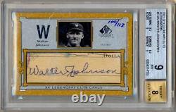 2001 SP Legendary Cuts Autograph WALTER JOHNSON Auto /113 BGS 9 MINT HOF GOAT