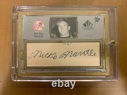 2001 SP Legendary Cuts Cards Mickey Mantle Autograph Signature 1/8 Yankees