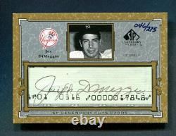 2001 UD SP Legendary Cuts Joe DiMaggio Signed Auto /275 New York Yankees HOF