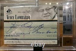 2002 Sp Legendary Cuts Vince Lombardi Signature Autograph Bgs 9/9 Graded Packers