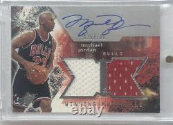 2004-05 Spx Winning Materials Autograph Michael Jordan Auto Dual Jersey /100