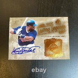 2005 Upper Deck Sp Legendary Cuts Kirby Puckett Auto Signed Baseball Card #16/25