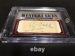 2008 Ty Cobb 1/1 Upper Deck Ud Mystery Cuts Auto Autograph Nm-mt