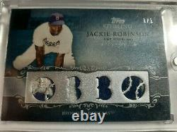 2009 Topps Sterling JACKIE ROBINSON 4 PC RELIC WithPRIME JERSEY PATCH 1 OF 1 1/1