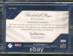 2009 Upper Deck Prominent Cuts Wilt Chamberlain Signature Auto 13/13 JSY # 1/1