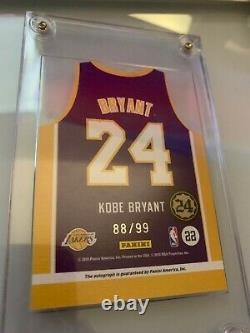 2010-11 Panini Threads Kobe Bryant Auto Autograph Jersey Die Cut Lakers 88/99