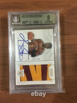 2012-13 National Treasures Kyrie Irving RC Patch Auto 009/199 BGS 9 Name Cut
