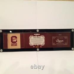 2012 Panini National Treasure Jim Thorpe Jersey/ Patch/ Cut Auto 1/1
