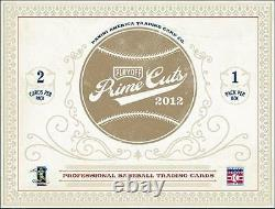 2012 Panini Prime Cuts Baseball Hobby 1 Box 1 Pack Patch 2 Cards Autographs Sign