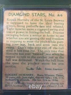 2014 HA Historic Autographs Diamond Stars PSA/DNA CUT AUTO Rogers Hornsby SP/7