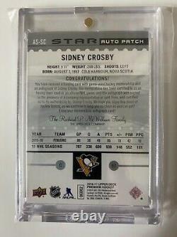 2016/17 Ud Premier Star 3 Clr Logo Patch Sidney Crosby Acetate Auto #/25