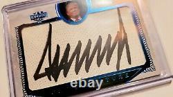 2016 Decision Donald J. Trump Cut Signature Blue Foil Sharp Pristine Auto 10
