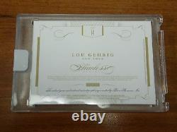 2016 Flawless Cuts Lou Gehrig Auto / Material 1/1 One Of One Factory Sealed