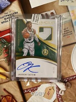 2017 Immaculate Jayson Tatum Rc Patch Auto True Rpa /99 2 Color