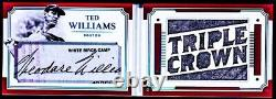 2017 National Treasures Legends Cut Ted Williams AUTO PATCH