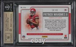 2017 Panini Certified Cuts Patrick Mahomes II ROOKIE RC PATCH AUTO /49 BGS 9.5