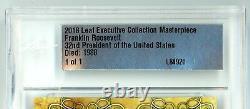 2018 Leaf Executive President Franklin Roosevelt Cut Auto Signed 1/1 PSA/DNA JSA