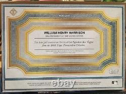 2018 Topps Transcendent William Henry Harrison Cut Signature Auto Autograph #1/1