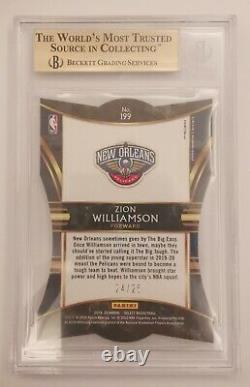 2019-20 Select Zion Williamson RC Rookie Tie Dye Die Cut /25 BGS 9. 5 Gem Mint
