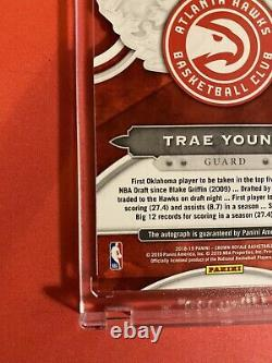 2019 -20 Trae Young Panini Crown Royale Auto Red Die-Cut # 55/99