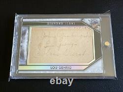 2019 Topps Lou Gehrig Cut Auto Grabowski Durst Autograph 27 Yankees Signed HOF