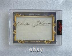 2020-21 Leaf Pearl Hockey Pearl Cuts Signatures President Andrew Johnson 1/1