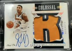 2020-21 National Treasures Gary Harris 3 Color Patch Auto #1/1 One Of One New