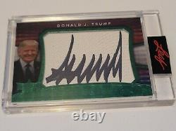 2020 Leaf Decision Donald J. Trump #/10 Cut Signature Auto Autograph