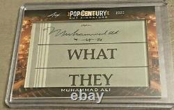 2020 Leaf Pop Century Muhammad Ali Cut Signature Auto RARE Boxing Legend SSP