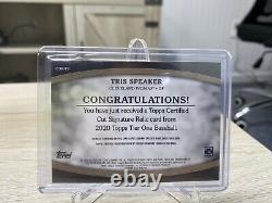 2020 Topps Tier One Tris Speaker Cut Auto / Bat Relic 1/1