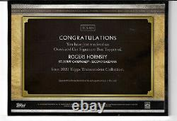 2020 Topps Transcendent Rogers Hornsby OVERSIZED CUT AUTO #1/1 signed Cardinals