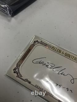 2021 Topps Allen & Ginter Cesar Chavez 1/1 Cut Auto CS-CC One Of One Autograph