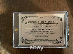 2021 Topps Allen & Ginter William H. Taft Cut Signature 1/1