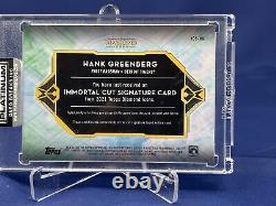 2021 Topps Diamond Icons Baseball Hank Greenberg 1/1 Immortal Cut Signature Auto