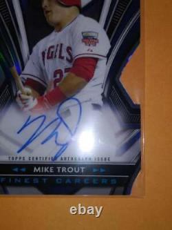 2021 Topps Finest Mike Trout Finest Careers Die-Cut Auto 02/10