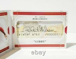 /25 2020 Panini National Treasures Baseball Bob Gibson Cut Signature Booklet