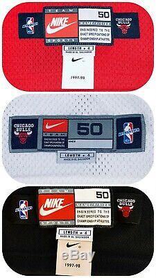 (3) Michael Jordan UDA Signed 1997-98 Nike Pro-Cut Bulls Jersey Set LE /123 JSA