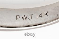 $3000 Paul Winston Signed 1ct VS Princess Cut Diamond 14k Gold Wedding Band Ring