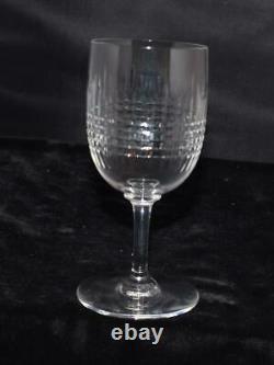 6 (Six) Baccarat French Crystal Nancy (Cut) Claret Wine Stems 5.5H MINT