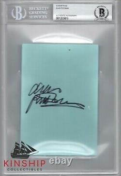 Alan Rickman signed Album Page Beckett BAS Slabbed Auto Harry Potter Rare C647
