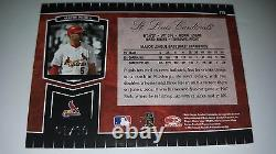 Albert Pujols 2004 Leaf Certified Cuts Red Marble Auto Card Signed # 1/10