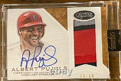 Albert Pujols 2016 Topps Dynasty Auto 10/10 Multi Colored Patch! Cardinals