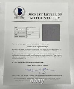 Andre The Giant Signed Autographed Cut Auto Envelope Beckett LOA