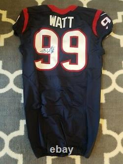 Authentic J. J. Watt Houston Texans Game Cut Team Issued Autographed Jersey