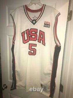 BARON DAVIS signed USA authentic PRO CUT jersey and game worn sneakers