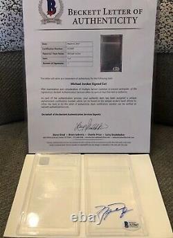 BAS PSA Michael Jordan Signed Clear Auto Beckett Cut COA LOA Autograph 1/1